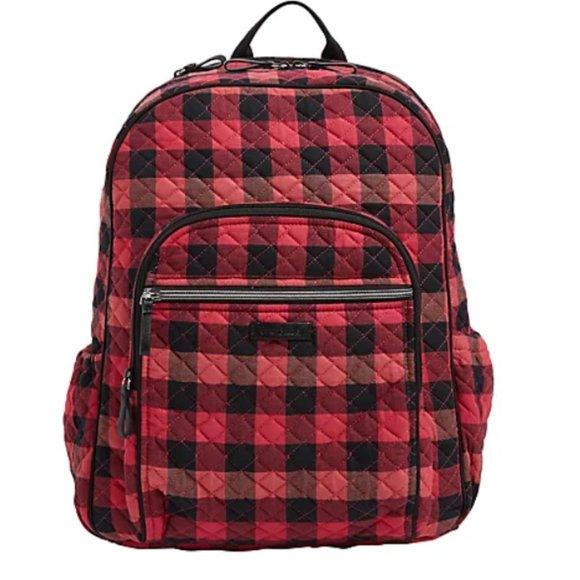 NWT Vera Bradley Buffalo Check Backpack
